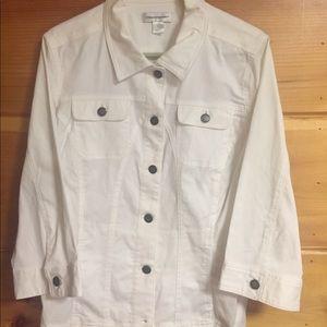 [Christopher & Banks] white jacket large blazer